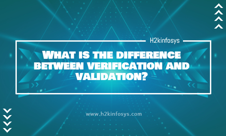 difference between verification and validation