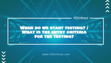Photo of When do we start testing? / What is the entry criteria for the testing?