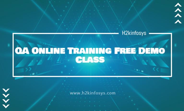 QA Online Training Free Demo Class