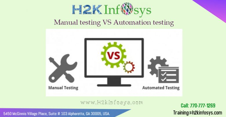 Manual testing VS Automation testing by H2kinfosys