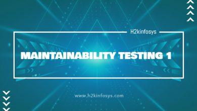 Photo of MAINTAINABILITY TESTING 1