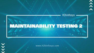 Photo of MAINTAINABILITY TESTING 2