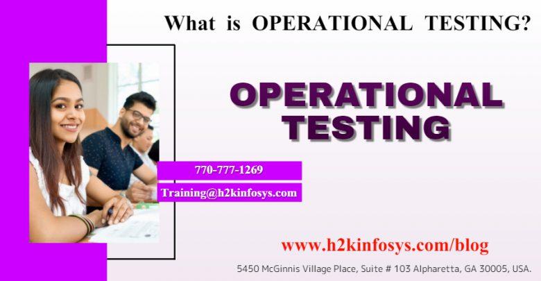 OPERATIONAL TESTING