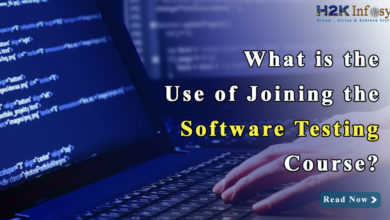 What is the use of joining the Software testing course