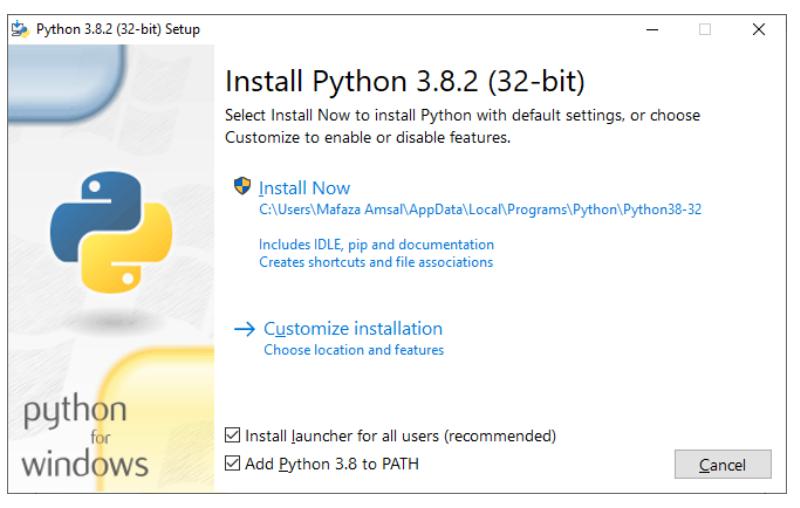 Installation of Python with PyCharm on Windows