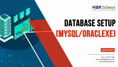 Photo of Database setup MySQL or OracleXE