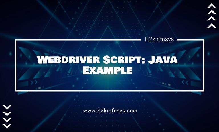 Webdriver Script Java Example