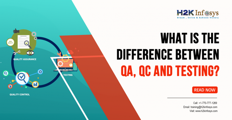 Difference Between QA, QC, and Testing?
