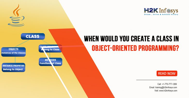 When Would you Create a Class in Object-Oriented Programming?