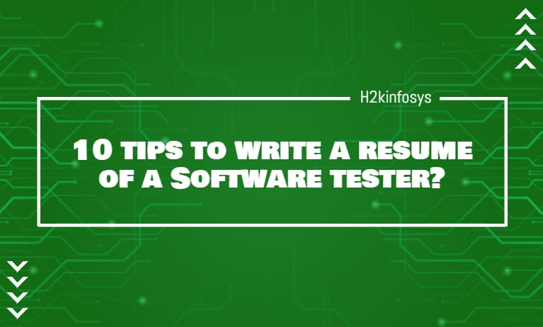 10 tips to write a resume of a Software tester