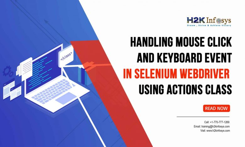 Handling Mouse Click and Keyboard Event in Selenium Webdriver
