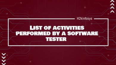 Photo of List the activities performed by a software tester