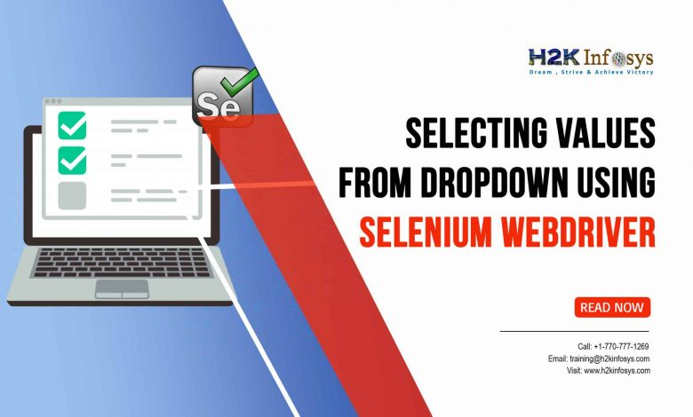 Selecting Values from Dropdown using Selenium WebDriver