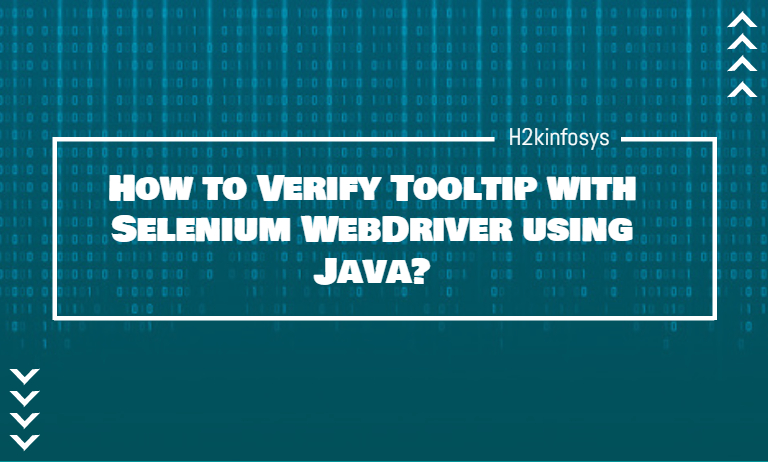 How to Verify Tooltip with Selenium WebDriver using Java