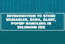 Photo of Introduction to Store Variables, Echo, Alert, PopUp handling in Selenium IDE