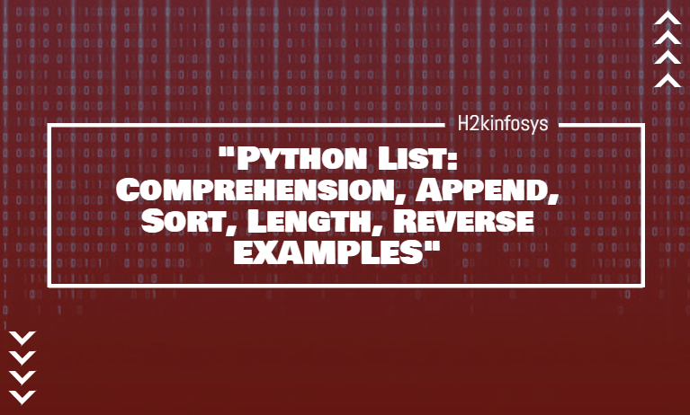 Python List Comprehension Append Sort Length Reverse EXAMPLES