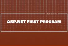 Photo of ASP.NET First Program