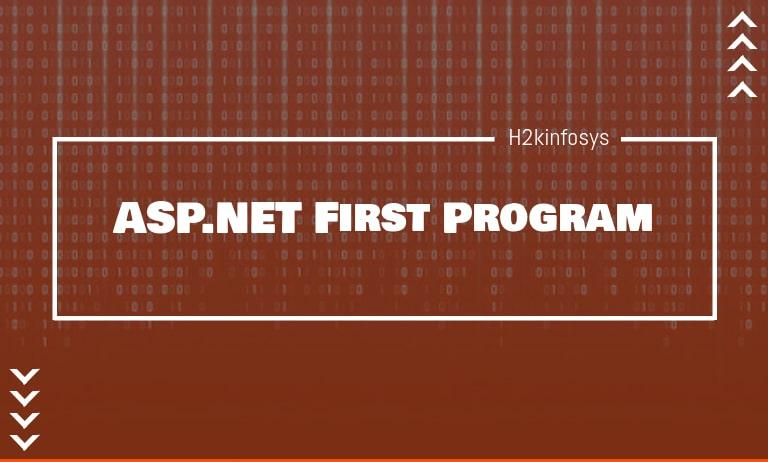 ASP.NET First Program
