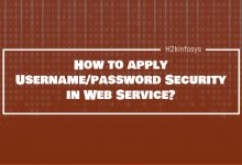 Photo of How to apply Username/password Security in Web Service?