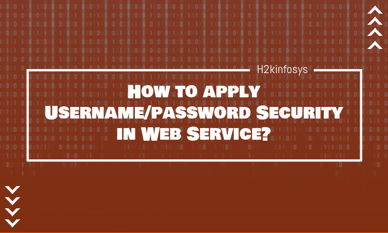 apply Username password Security