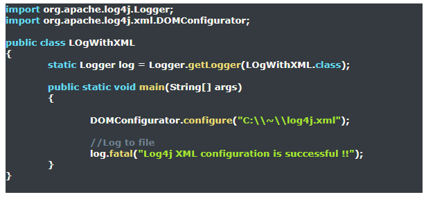 Download, Install, and Use of Log4j with Example using Selenium