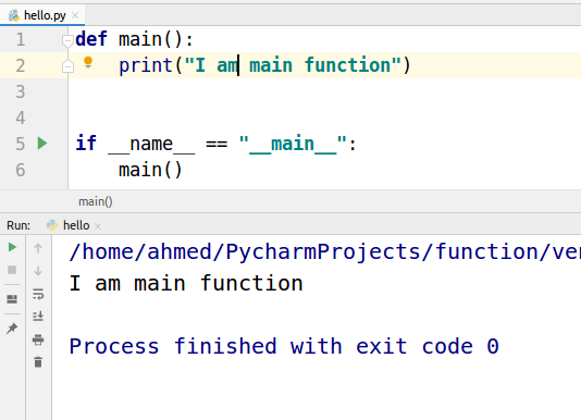 main functions example