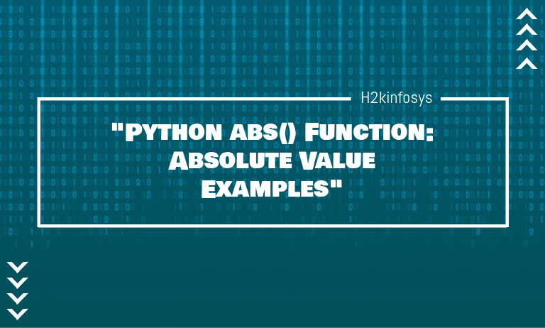 Python abs Function Absolute Value