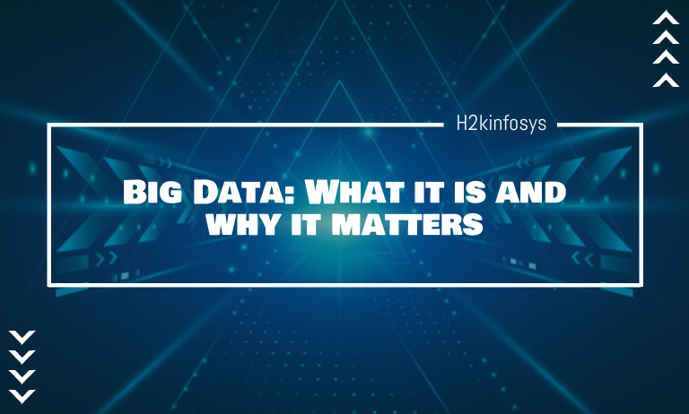 Big Data: What it is and why it matters - h2kinfosys