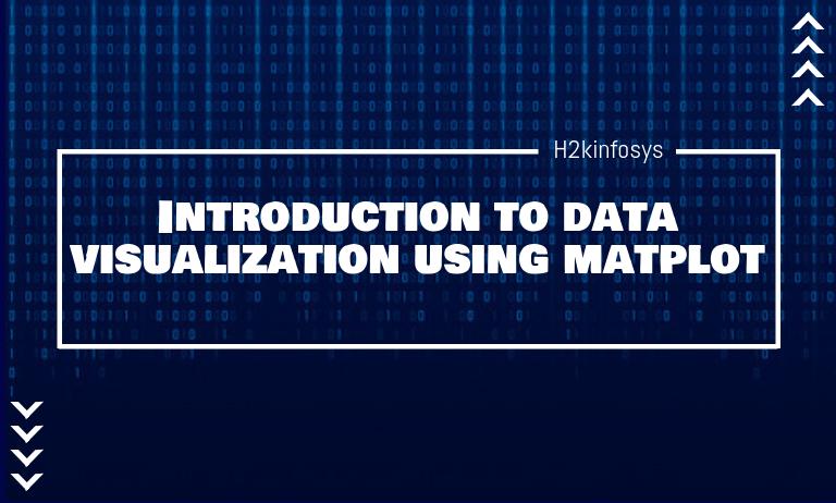 Introduction to data visualization using matplot