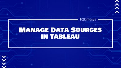 Photo of Manage Data Sources in Tableau