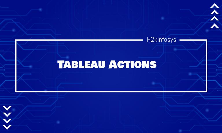 Tableau Actions