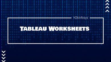 Photo of Tableau Worksheets