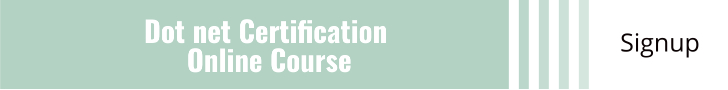 Dot net Certification Online Course