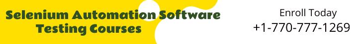 Selenium Automation Software Testing Courses