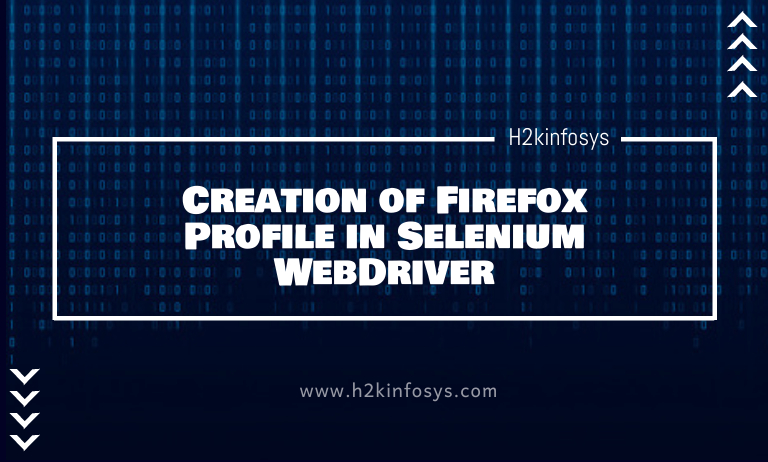 Creation of Firefox Profile in Selenium WebDriver