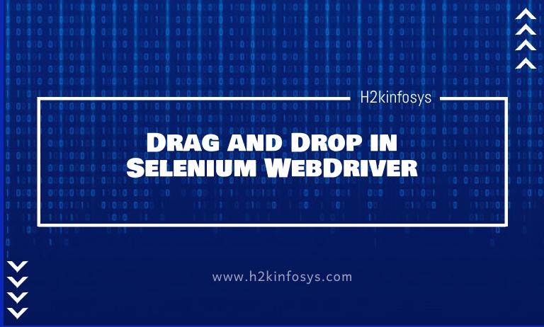 Drag and Drop in Selenium WebDriver