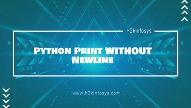 Photo of Python Print WITHOUT Newline