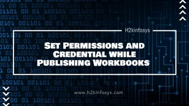Photo of Set Permissions and Credential while Publishing Workbooks