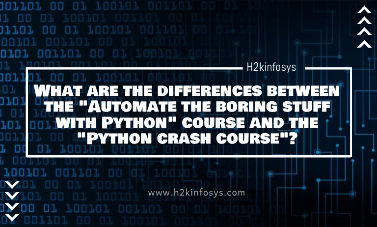 "What are the differences between the ""Automate the boring stuff with Python"" course and the ""Python crash course""?"
