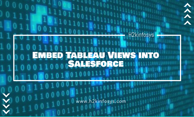 Embed Tableau Views Into Salesforce H2kinfosys Blog