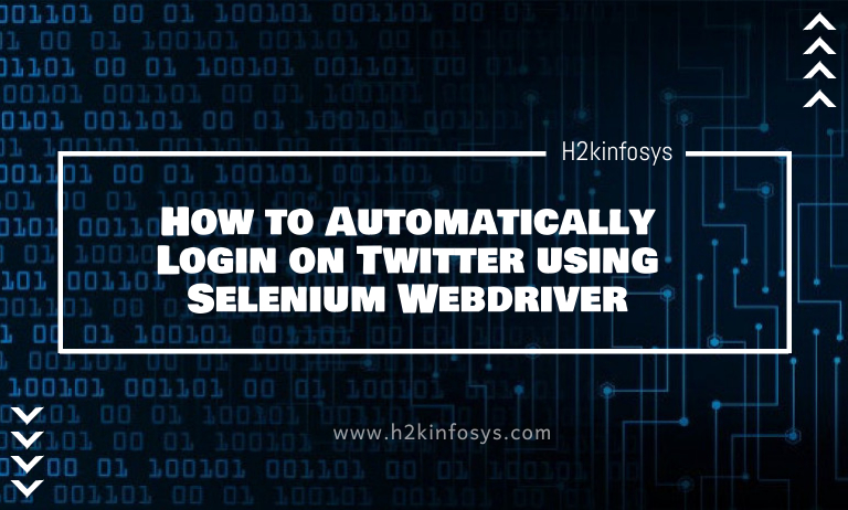 How to Automatically Login on Twitter using Selenium Webdriver