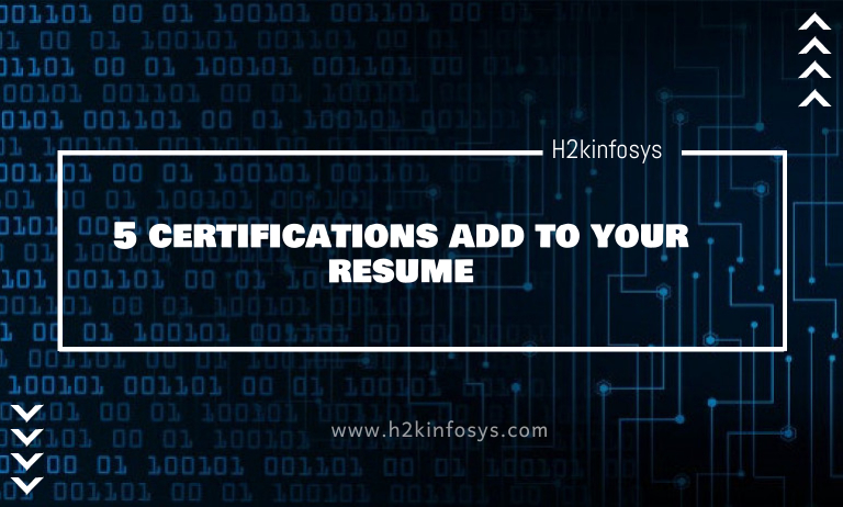 5 certifications add to your resume