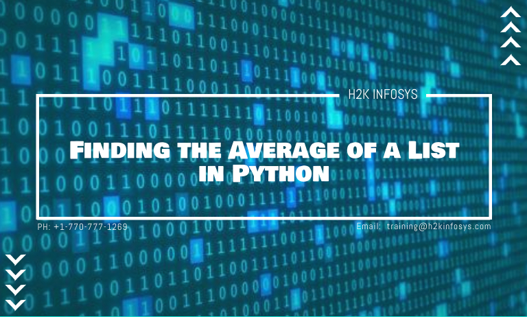 Finding the Average of a List in Python