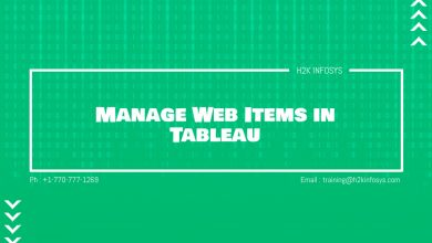 Photo of Manage Web Items in Tableau
