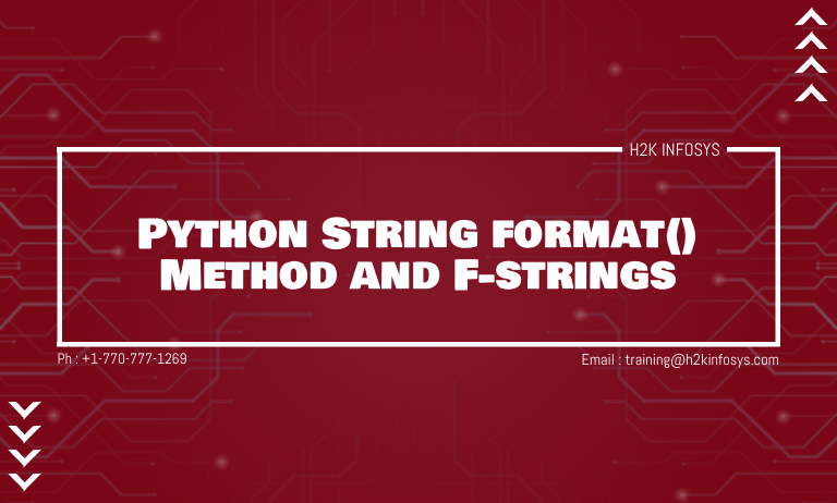Python String format Method and F-strings
