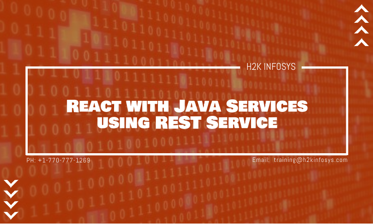 React with Java Services using REST Service