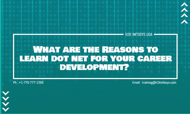Reasons to learn dot net
