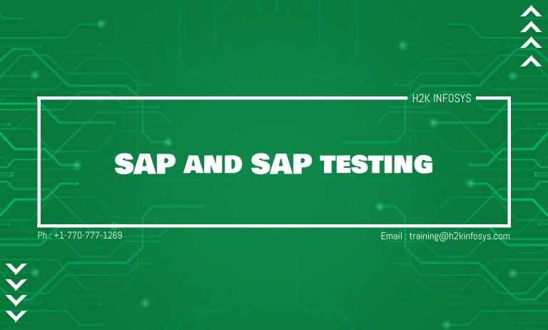 SAP and SAP testing