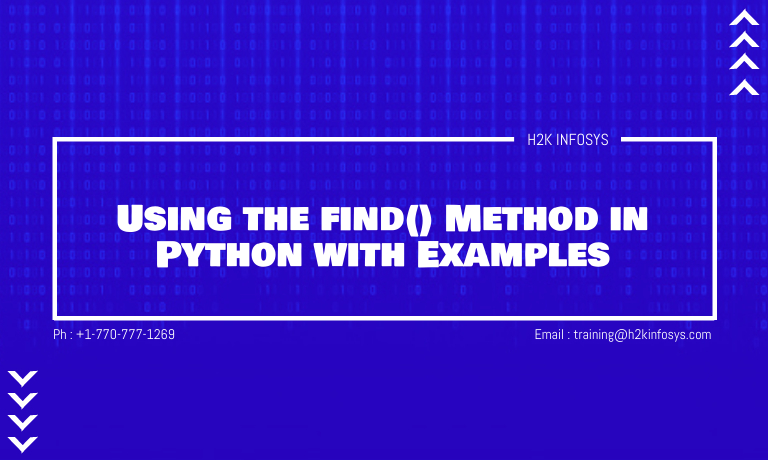 Using the find() Method in Python with Example