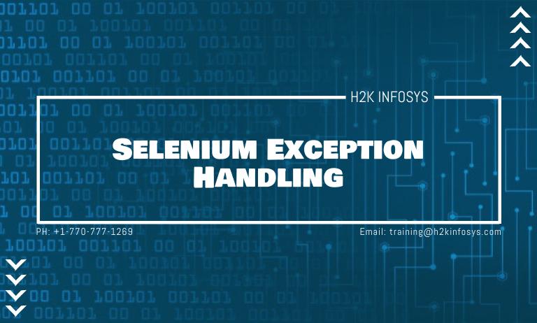 Selenium Exception Handling